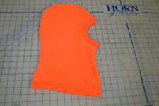bright orange safety hunting balaclava hood face open fleece warm soft hunting
