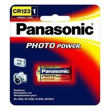 Panasonic CR123, 3 Volt Photo Lithium Battery