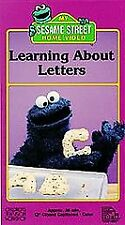 Sesame Street - Learning About Letters (VHS, 1996)
