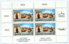 Austria 1999 stamp and postvan minisheet sheet mint