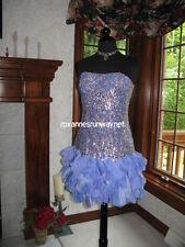 Sherri Hill 8430 Periwinkle Blue Cocktail Dress sz 6