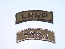 b8372 US Army Vietnam Long Range Reconnaissance Patrol LRRP black on OD
