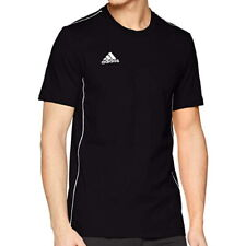 Adidas T Shirt Uomo Sport Calcio CE9063 Core18 Tee Black White Nero