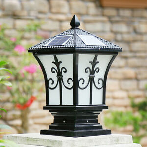 1PC Decorative LED Solar Garden Light Waterproof Pillar Lamp for Patio Outdoor