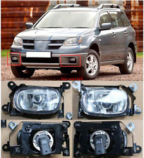Left & Right Front Fog Lights Lamp Assembly For Mitsubishi Outlander 2003 - 2006