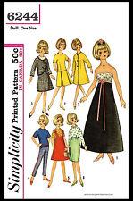 "TAMMY Barbie Jan 12"" Vintage Fashion DOLL Fabric Sewing Pattern Simplicity #6244"