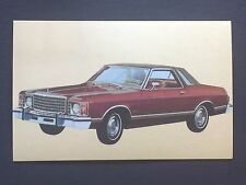 1975 FORD GRANADA GHIA promotional postcard (for dealers use) ..ever have one???
