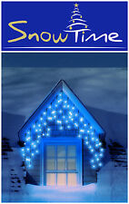240 LED Xmas BLUE Christmas Light 8x Multi Function Snowing Icicles In / Outdoor