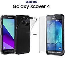 COVER per Samsung Galaxy Xcover 4 CUSTODIA TPU + PELLICOLA VETRO TEMPERATO