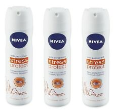 3 x NIVEA STRESS PROTECT DEODORANT ANTIPERSPIRANT FOR WOMEN 5.07oz / 150ML