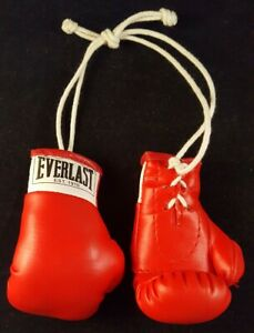"""Everlast Red 3.5"""" Detailed Lace Up Mini Boxing Gloves - For Autograph Decoration"""