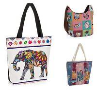 Ladies Canvas / Slouch Beach Shoulder Bag Summer Holiday Tote Shopping Handbag