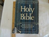 """Vintage Holy Bible revised standard 1953 as is torn 8 """""""