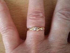 9ct gold diamond  ring size N