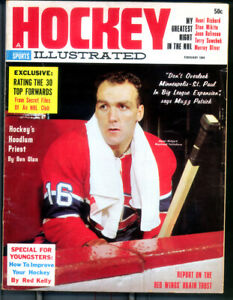 1 - 8 1/2 x 11 Hockey Illustrated Feb 1964   With Henri Richard   full Mag Ex