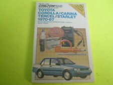 1970-1987 TOYOTA COROLLA CARINA TERCEL STARLET CHILTON'S REPAIR MANUAL SERVICE