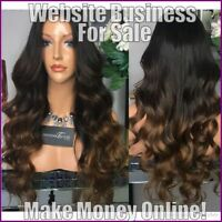 HUMAN HAIR WIGS Website Earn £21 A SALE|FREE Domain|FREE Hosting|FREE Traffic