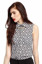 Collared Business Sleeveless Tops & Shirts for Women