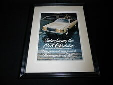 1978 Chrysler Cordoba 11x14 Framed ORIGINAL Vintage Advertisement