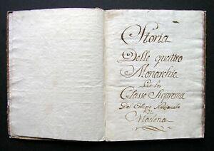 Italian Manuscript - History of the Four Monarchies / 18th century