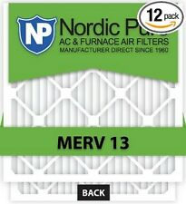 Air Filter Nordic Pure 16x25x1 M13 16x25x1M13-6 Pleated AC Furnace Box of 12