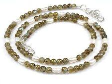 Ct 64 Natural Labradorite & Pearl Beads Necklace Gemstone Birthday Gift Sale