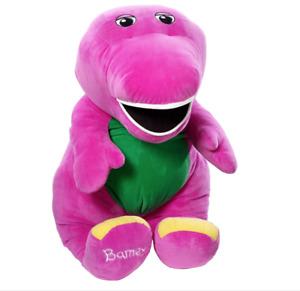 """Fisher Price Speak N Sing Barney Large Talking Singing Plush 26"""" Inch Jumbo BIN"""