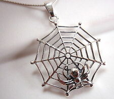 Spider in Her Web Pendant 925 Sterling Silver Corona Sun Jewelry