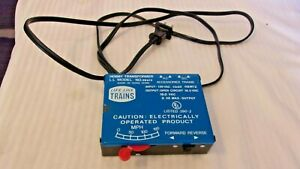 Vintage HO Scale Life Like Hobby Transformer Power Pack #08615 for DC