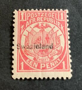 British Swaziland 1889 - unused stamp 1 P.
