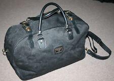 1990s Vintage ANTLER Travel Bag/Holdall Black Fabric Overnight Bag/Gym Bag +Keys