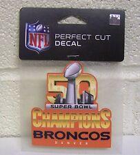 Denver Broncos Super Bowl 50 Champions Die Cut Decal