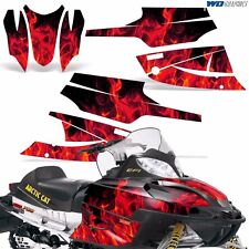 FireCat Arctic Cat Graphic Kit  F5,F6,F7 Sled Sabercat Snowmobile Wrap ICE RED