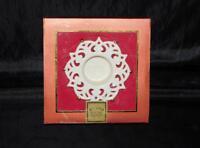 Lenox Snow Lights Sparkling Votive Candle Holder White Porcelain Gold Tealight