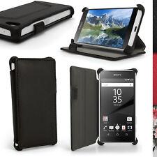 PU Cuero Funda Carcasa Piel para Sony Xperia Z5 Compact E5803 Cubierta Cover