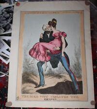 "Satirical Print ""The Man Wot Violates Graves"" Heath McLean 1830 Necrophilia"
