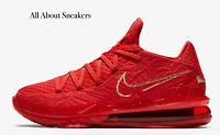 """LeBron 17 Low PH """"Red/Metallic Gold"""" Men's Trainers Limited Stock All Sizes"""