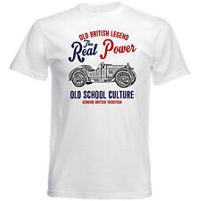 VINTAGE British car MORRIS MINOR Bullet-Nuovo T-shirt di cotone