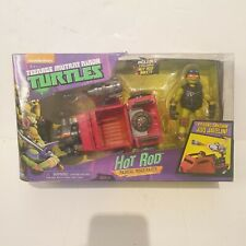 Teenage Mutant Ninja Turtles Nickelodeon Hot Rod Vehículo & Mikey Figura Nueva