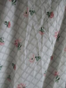 Springmaid vintage percale pink roses floral lattice bed sheet fitted Queen