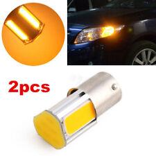 2X Yellow 1156 G18 Ba15s 4 COB LED Turn Signal Rear Light Car Bulb Lamp 12V D083