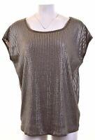 ARMANI Womens Top Blouse Size 16 Large Grey Viscose Oversized EA08