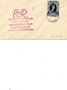 Bermuda QE Coronation First day Cover as scan