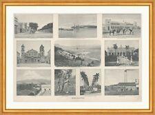 Bilder von Cuba Santiago Tabakernte Havanna Kuba Kathedrale Holzstich C 1433