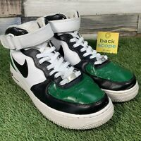 UK8 CUSTOM PAINT Nike Air Force 1 Mid Boots - Pine Green Retro AF1 Trainers 42.5