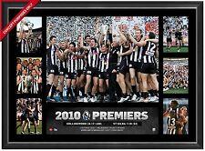 Collingwood 2010 AFL Premiership Glory Official AFL Photo Collage Framed Swan
