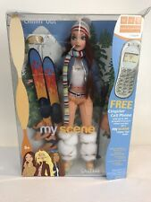 My Scene Chillin Out Chelsea Barbie Doll Brown Hair Brown Eyes Skis Boots nrfb