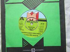 GOLDEN FIDDLE ORCH QUEEN ELIZABETH JUBILEE  demo promo.......  pop '70's 45 rpm