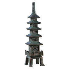 Nara Temple Asian Garden Statue 28in Tall Pagoda Lawn Ornament Patio Sculpture