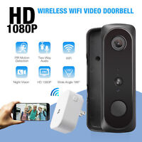 Wi-Fi Doorbell Video Audio Chime Intercom HD 2-Way Security Camera PIR Door Bell